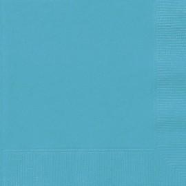 Serviettes Cocktail en Papier Bleu Turquoise