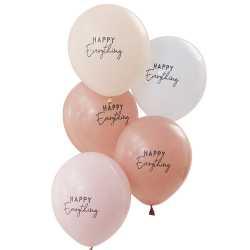 Ballons Latex Happy Everything Arc-en-Ciel Bohème