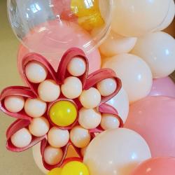 Structure Fleur Marguerite à garnir de ballons