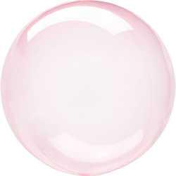 Ballon Crystal Bulle Rond Rose Transparent - Décoration de ballons