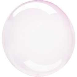 Ballon Crystal Bulle Rond Rose Clair Transparent - Décoration de ballons