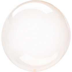 Ballon Crystal Bulle Rond Orange Transparent - Décoration de ballons