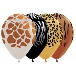 Petites Assiettes Premium Léopard Tigre Girafe Zèbre Safari Anniversaire Meri Meri