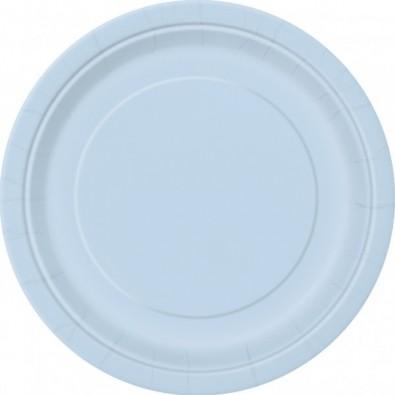 Grandes Assiettes Papier Bleu