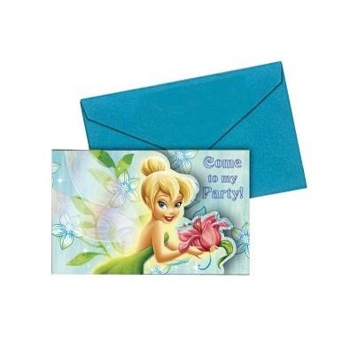 Extrêmement carte d'invitation anniversaire fée clochette Disney HO74