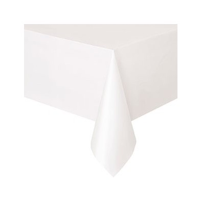 nappe plastique blanche lavable pour votre f te. Black Bedroom Furniture Sets. Home Design Ideas