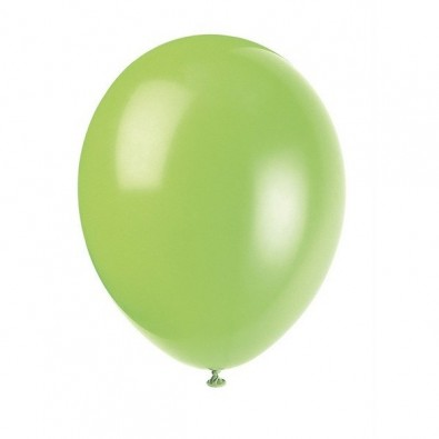 10 Ballons Gonflables Latex Vert Anis Fête