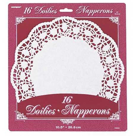 Napperons Dentelle en Papier Blanc 26,6cm