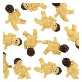 12 Mini Figurines Bébé Plastique
