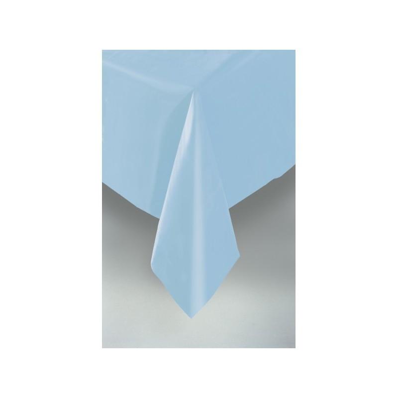 nappe plastique bleu uni lavable pour votre f te. Black Bedroom Furniture Sets. Home Design Ideas