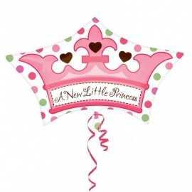 Ballon Couronne A Little Princess Naissance Bébé Fille