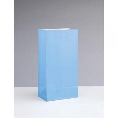Sachet Papier Glaçé Bleu Cadeaux aux Invités