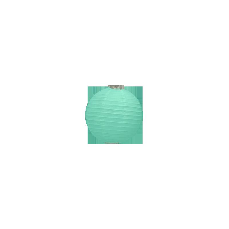 Lanterne boule de papier vert d 39 eau 20 cm pour d coration for Decoration vert d eau