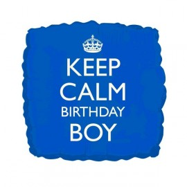 Ballon Keep Calm Birthday Boy