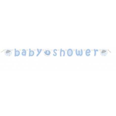 Banderole Baby Shower Eléphant Bleu
