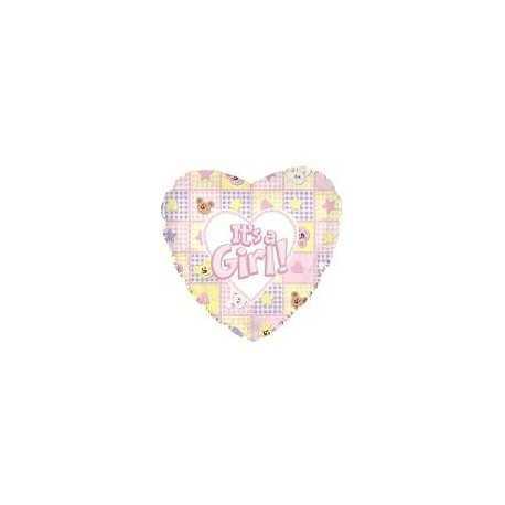 Ballon C'est une Fille Baby Girl Pastel Coeur