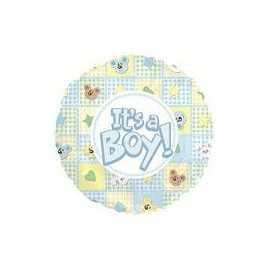 Ballon C'est un Garçon Baby Boy Pastel Rond