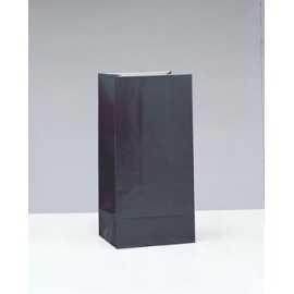 12 Sachets Papier Noir Cadeaux aux Invités