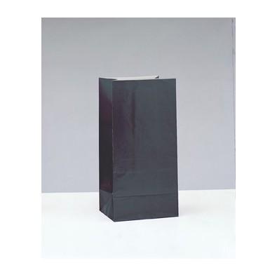 Sachet Papier Noir Cadeaux aux Invités