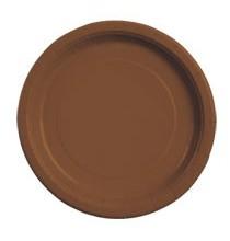 Petites Assiettes Papier Marron Chocolat