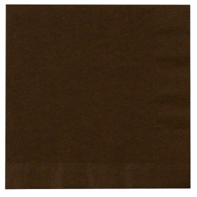 Serviettes en Papier Marron Chocolat