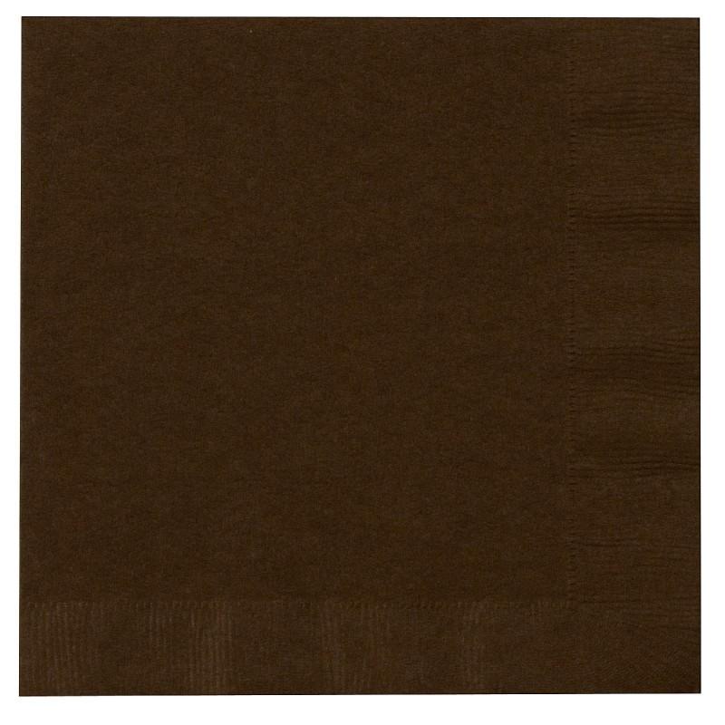 serviettes en papier marron chocolat organisation de f te. Black Bedroom Furniture Sets. Home Design Ideas