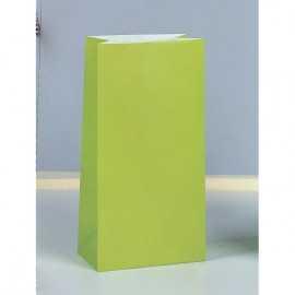 12 Sachets Papier Glaçé Vert Cadeaux aux Invités