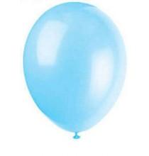 10 Ballons Gonflables Latex Bleu Clair Fête