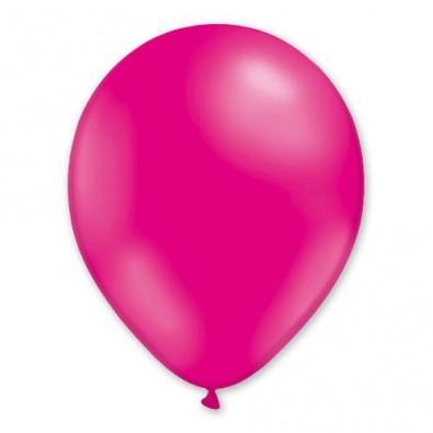 ballons latex décoration anniversaire baptême rose fushia