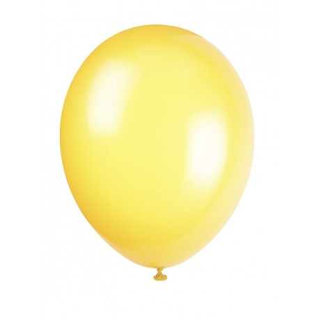 10 Ballons Gonflables Latex Jaune Fête