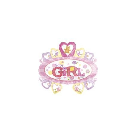 Ballon Géant Marquise Baby Girl Rose