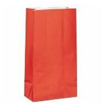 Sachet Papier Glaçé Rouge Cadeaux aux Invités