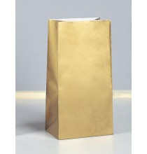 Sachet Papier Glaçé Doré Or Cadeaux aux Invités