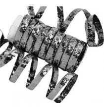 10 Serpentins Holographiques Métalisé Noir