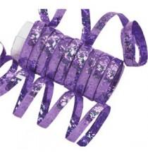 10 Serpentins Holographiques Métalisé Violet