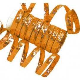 10 Serpentins Holographiques Métallisés Orange