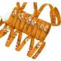 10 Serpentins Holographiques Métalisé Orange
