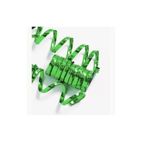 10 Serpentins Holographiques Métalisé Vert