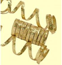 10 Serpentins Holographiques Métalisé Or Doré