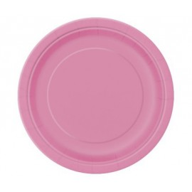 Petites Assiettes Papier Rose Fushia