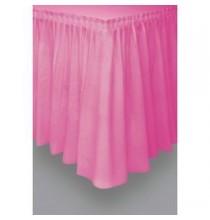 Jupe de Table Plastique Rose Fushia Lavable