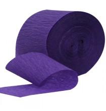 Serpentin Violet Papier Crépon Décoration de Fête