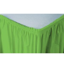 Jupe de Table Plastique Vert Lavable