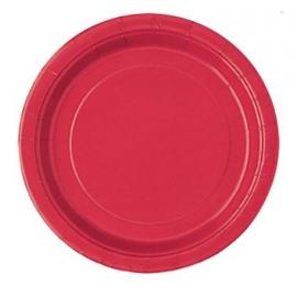 Grandes Assiettes Papier Rouge