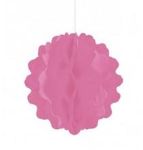Boule de Papier Alvéolé à Suspendre Rose Décoration de fête