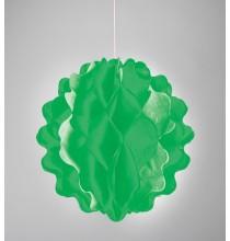 Boule de Papier Alvéolé à Suspendre Vert Décoration de fête