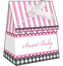 12 Sachets Cadeaux aux Invités Sweet Baby Shower Petits Pieds Rose
