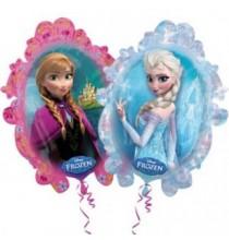 Ballon Géant Reine des Neiges Disney pour Anniversaire et Fête Elsa et Anna