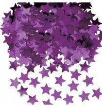 Confettis étoiles violet Décoration de fête