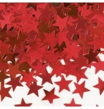 Confettis étoiles rouge Décoration de fête